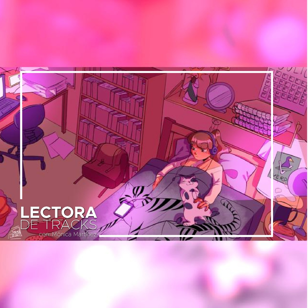 Latin Lo-fi historia Acrylic Label Lectora de Tracks